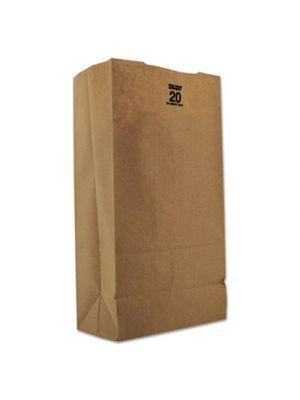 #20 Paper Grocery, 57lb Kraft, Extra Heavy-Duty 8 1/4x5 5/16 x16 1/8, 500 bags