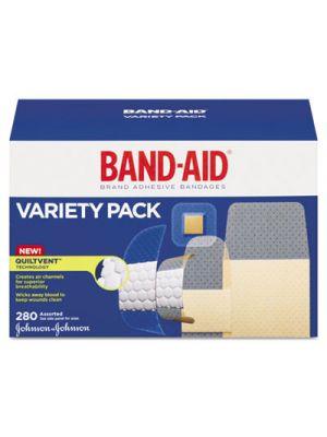 Sheer/Wet Adhesive Bandages, Assorted Sizes, 280/Box
