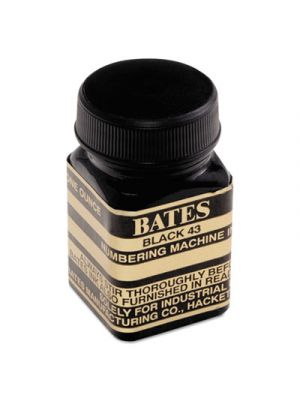 Refill Ink for Numbering Machines, 1 oz Bottle, Black