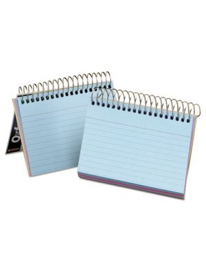 Spiral Index Cards, 3 x 5, 50 Cards, Assorted Colors