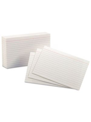 Ruled Index Cards, 4 x 6, White, 100/Pack