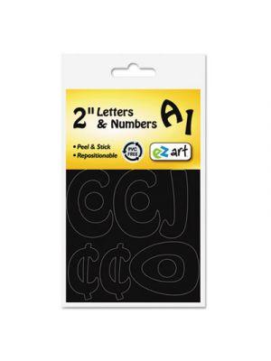 Self-Adhesive Caps & Numbers, Hobo, Black, 2