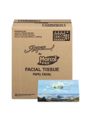 100% Recycled Convenience Pack Facial Tissue, White, 144 Sheets/Box
