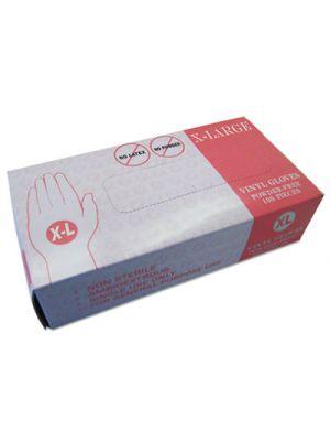 Powder Free Vinyl Gloves, X-Large, Disposable, 1000/Carton
