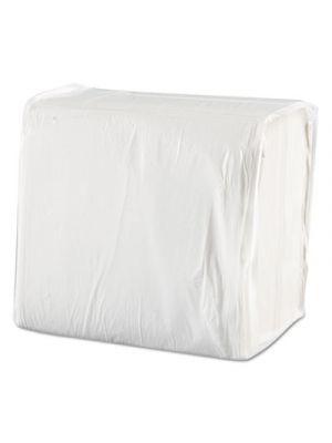 Dinner Napkins, 1-Ply, 17 x 17, White, 250/Pack, 12 Packs/Carton