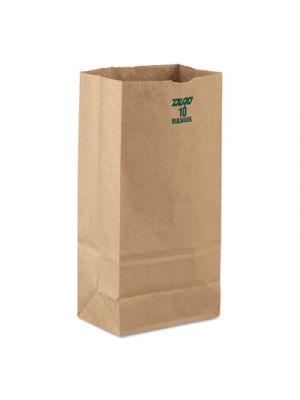 #10 Paper Grocery, 60lb Kraft, Extra-Heavy-Duty 6 5/16x4 3/16 x12 3/8, 1000 bags