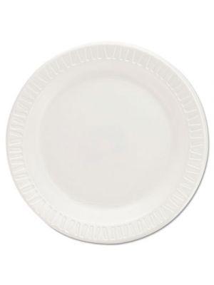 Quiet Classic Laminated Foam Dinnerware Plates, 6 Inches, White, Round, 125/Pack