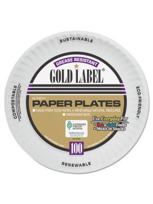 Coated Paper Plates, 6 Inches, White, Round, 100/Pack