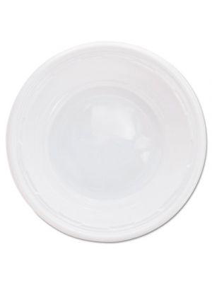 Plastic Bowls, 5-6 Ounces, White, Round, 125/Pack