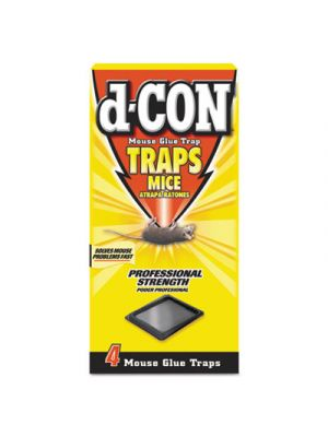 Mouse Glue Trap, Plastic, 4 Traps/Box, 12 Boxes/Carton