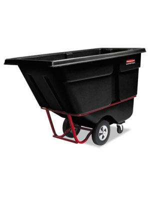 Commercial Rotomolded Tilt Truck, Rectangular, Plastic, 1250-lb Cap., Black