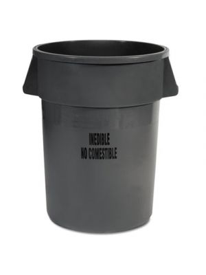 Brute Round Containers, 44 gallon, Gray