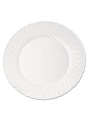 Classicware Plastic Plates, 9 Inches, White, Round, 10/Pack