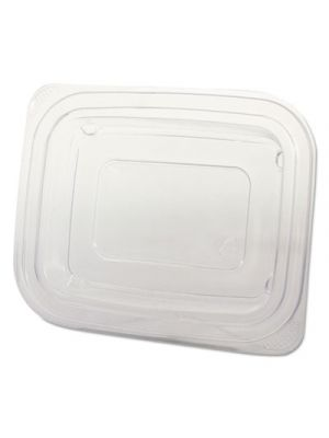 Microwave Safe Container Lid, Plastic, Fits 12-16 oz, Rectangular, Clear, 75/Bag