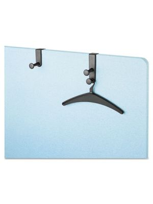 Two-Post Over-The-Panel Hook with Two Garment Hangers, 1 1/2