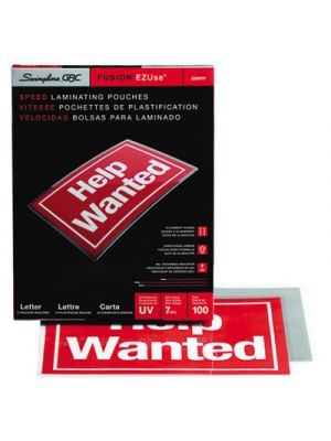 EZUse Thermal Laminating Pouches, 7mil, 11 1/2 x 9, 100/Box