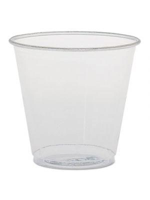 Plastic Sampling Cups, 3.5 oz, Clear, Polystyrene, 100/Bag, 25 Bags/Carton