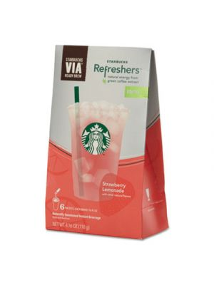 VIA Refreshers, Strawberry Lemonade, 4.16 oz Pack, 6/Box