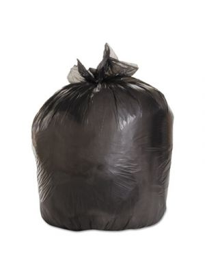 Medium-Grade Can Liners, 33x39, 33 Gal, .50 Mil, Black, 25 Bags/RL, 8 Rolls/CT