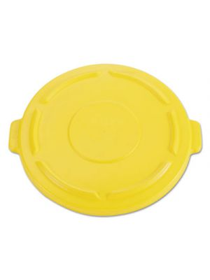 Vented Round Brute Flat Top Lid, 24 1/2 x 1 1/2, Yellow