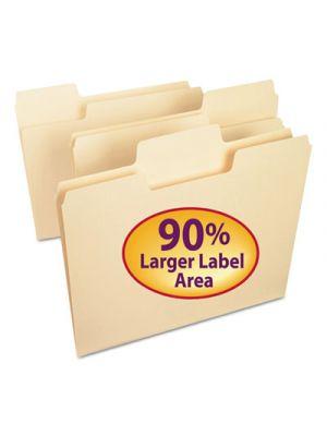 SuperTab File Folders; 1/3 Cut Top Tab; Letter; Manila; 100/Box