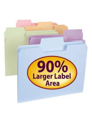 SuperTab File Folders; 1/3 Cut Top Tab; Letter; Assorted Colors; 100/Box