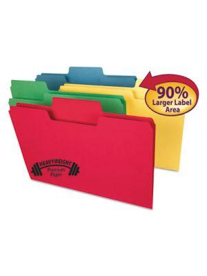 SuperTab Heavyweight folder; Assorted; 1/3 Cut; Legal; 50/BX