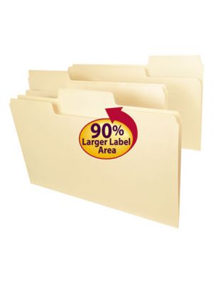 SuperTab File Folders; 1/3 Cut Top Tab; Legal; Manila; 100/Box