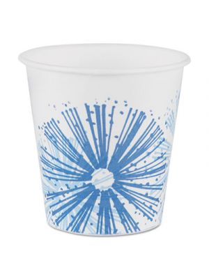 Alcohol-Resistant Treated Paper Cold Cups,3oz, Starlite/White-Blue,100/PK, 24/CT