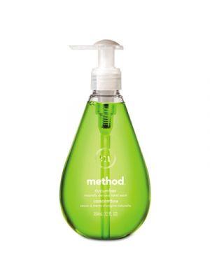 Gel Hand Wash, Cucumber, 12 oz Pump Bottle, 6/Carton