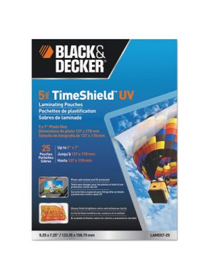 TimeShield UV Laminating Pouches, 5 mil, 5 x 7, 25/Pack
