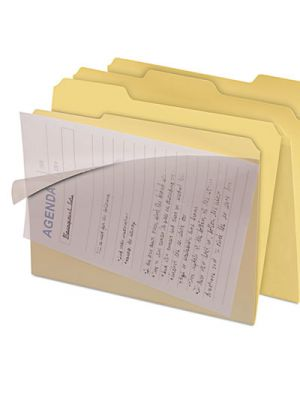 Clear View Interior File Folders; 1/3 Cut Top Tab; Letter; Manila; 8/Pack