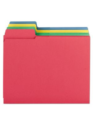 3-in-1 SuperTab Section Folders; 1/3 Cut Top Tab; Letter; Assorted; 12/Pack
