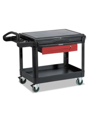 TradeMaster Cart, 500-lb Cap, One-Shelf, 38-5/8w x 52-1/2d x 37-7/8h, Black