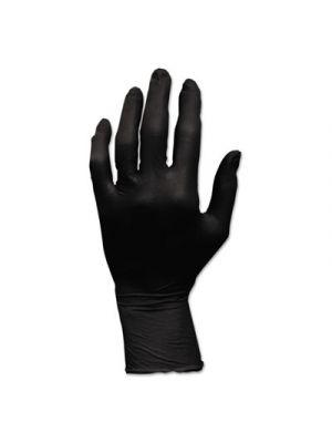 ProWorks GrizzlyNite Nitrile Gloves, Powder-Free, Large, Black, 100/Carton