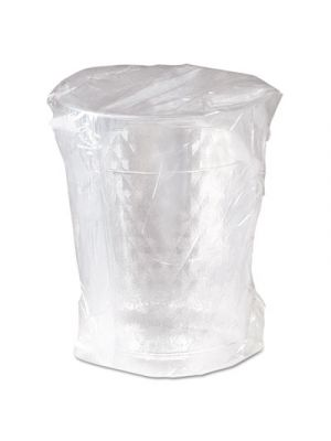 Diamond Tumbler Plastic Cups, 10oz., Clear, Individually Wrapped, 25/Bag, 20/CT