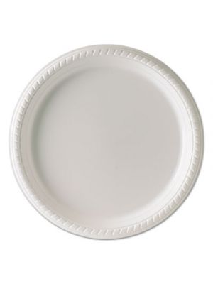 Plastic Plates, 10 1/4 Inches, White, Round, 25/Pack, 20 Packs/Carton