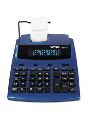 1225-3A Antimicrobial Two-Color Printing Calculator, Blue/Red Print, 3 Lines/Sec