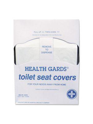 Health Gards Quarter-Fold Toilet Seat Covers, White, Paper, 200/PK, 25 PK/CT