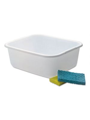 Microban Dishpan, 4.5gal, White, 6/Carton