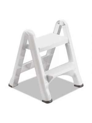 EZ Step Two-Step Folding Stool, 19 1/2 x 20 3/5 x 22 7/10, White, 3/Carton