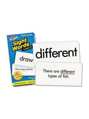 Skill Drill Flash Cards, 3 x 6, Sight Words Set 3
