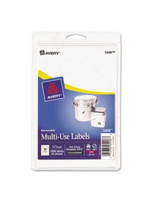 Removable Multi-Use Labels, 3/4
