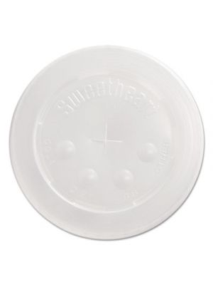 Straw-Slot Cold Cup Lids, 24 oz Cups, Translucent, 125/Sleeve
