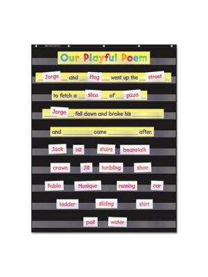 Standard Pocket Charts, 34 x 44, Black/Clear