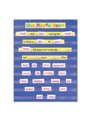 Standard Pocket Charts, 34 x 44, Blue/Clear
