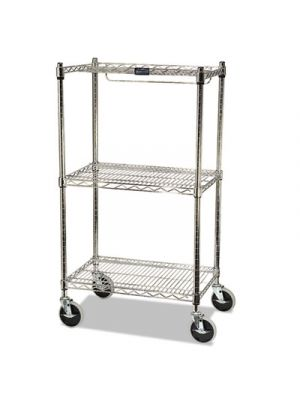 ProSave Shelf Ingredient Bin Cart, Two-Shelf, 26w x 18d x 47 3/4h, Chrome