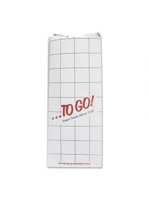 Foil Sandwich Bags, 6 x 4 3/4 x 14, White, To Go!, 500/Carton