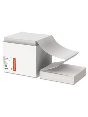 Computer Paper, 20lb, 9-1/2 x 11, Letter Trim Perforations, White, 2400 Sheets
