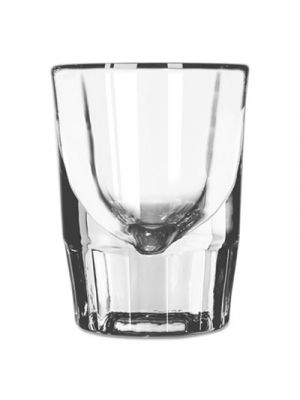 Whiskey Service Drinking Glasses, Fluted Shot Glass, 1-1/2oz, 2-7/8